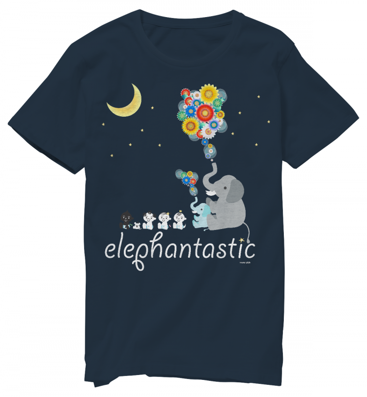STEERS版 elephantastic Tシャツ