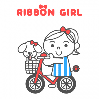 "LINE Themes ""RIBBON GIRL"""