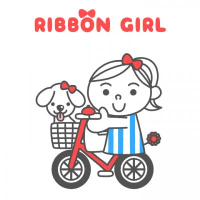 LINE着せかえ「RIBBON GIRL」